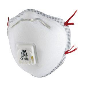 3M 8833 Stofmasker FFP3 met uitademventiel