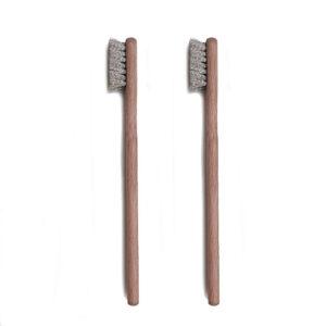 Borstel met korte steel - nikkel zilverdraad 0.10 MM x 12 MM