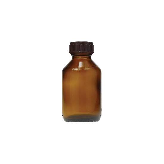 Fles - glas bruin - 100 ml - DIN 28