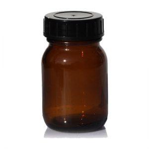 Fles - glas bruin - 30 ml - brede hals - DIN 28