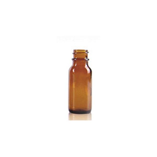 Fles nauwmonds - glas bruin - DIN 18