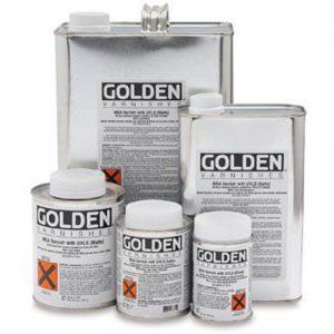 Golden M.S.A. Varnish met anti- U.V. filter glans
