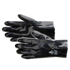 Handschoen katoen PVC zwart maat 9