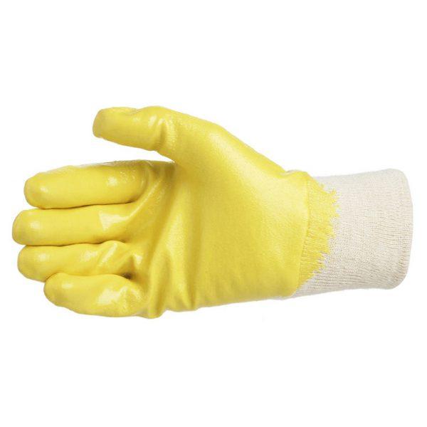 Handschoen katoen met geruwd latex L (Glashandschoen)