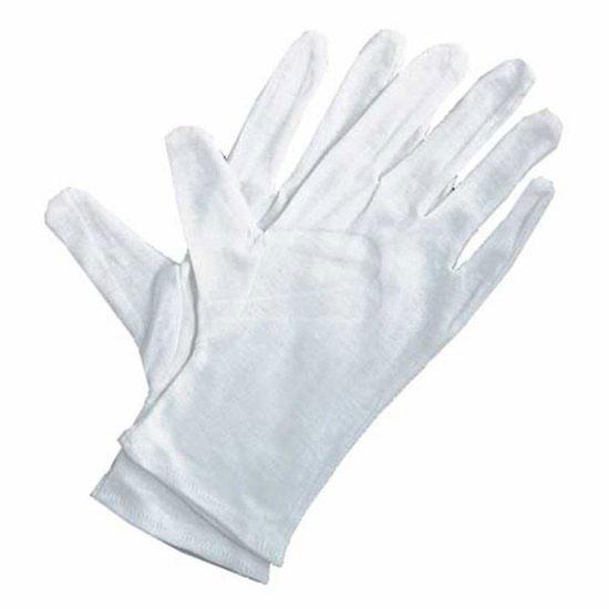 Handschoen katoen - tricot - gebleekt - 6 paar