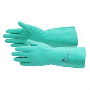 Handschoen nitril - Pro chem grip line - green