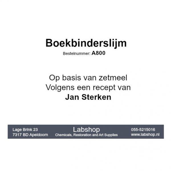 Jan Sterkenlijm - Boekbinderslijm obv zetmeel