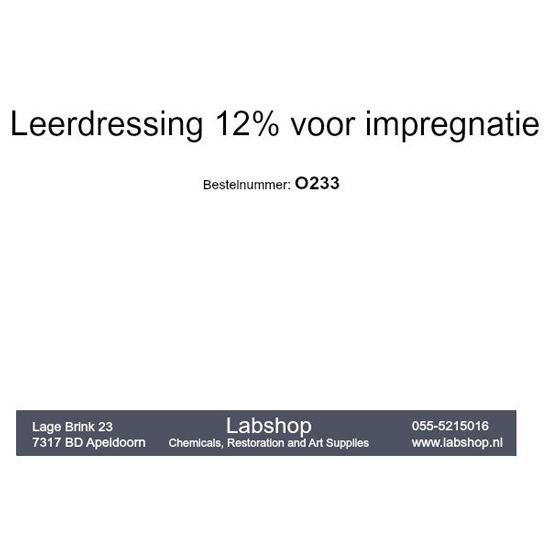 Leerdressing 12% voor impregnatie