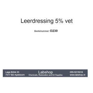 Leerdressing 5% vet