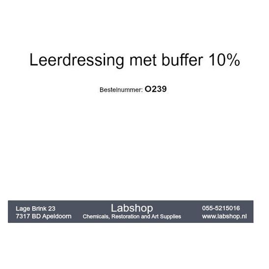 Leerdressing met buffer 10%