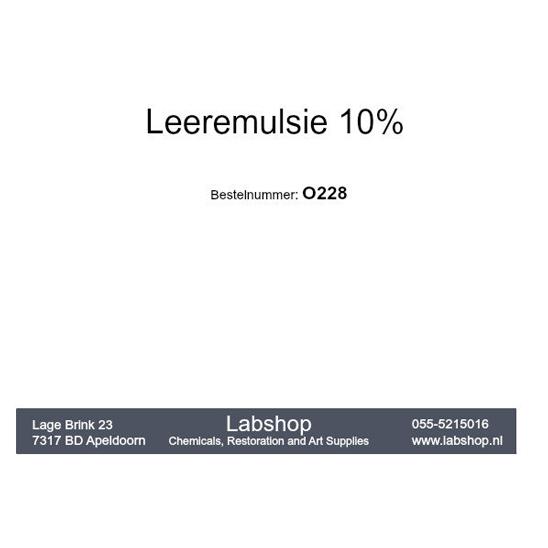 Leeremulsie 10%