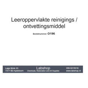 Leeroppervlakte ontvettingsmiddel