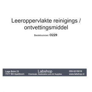 Leeroppervlakte reinigingsmiddel