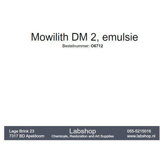 Mowilith DM2 - emulsie