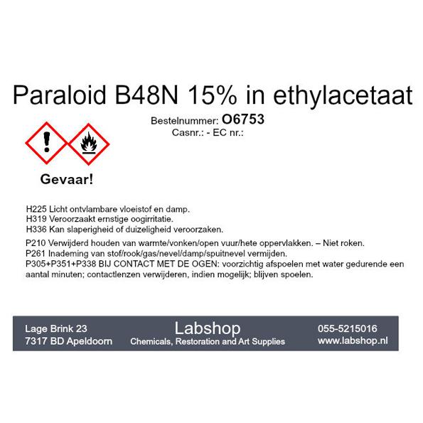 Paraloid B48N 15% in ethylacetaat
