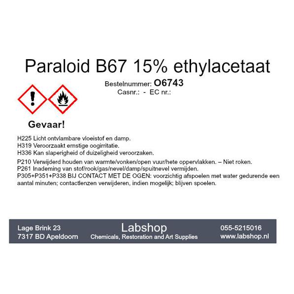 Paraloid B67 15% ethylacetaat