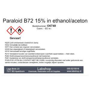 Paraloid B72 15% in ethanol/aceton