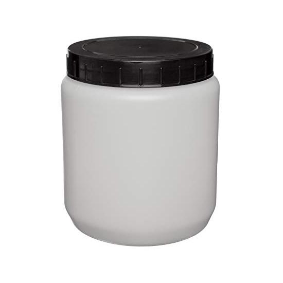 Pot met schroefdop (PE) - zwart