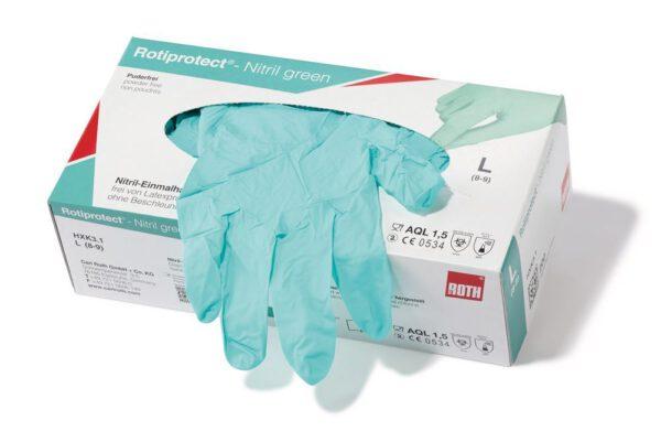 Handschoen-nitril-groen-200st-in-doos