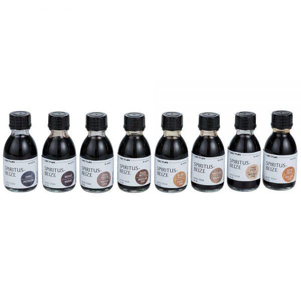 kleurenassortiment houttinten 8 delig flesjes